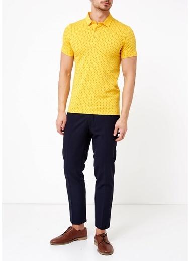 Adze Polo Yaka Tişört Sarı